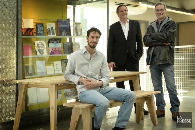 Portrait de trois membres de la coop ÉTABLI... (Photo Bernard Brault, La Presse)