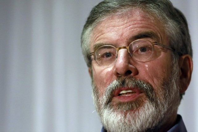 Le leader républicain Gerry Adams.... (PHOTO CATHAL MCNAUGHTON, REUTERS)