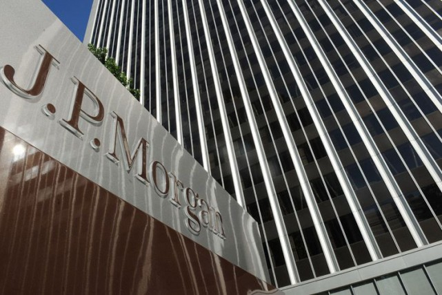 JPMorgan a réduit à 4,7 milliards de dollars... (Photo Archives AFP)