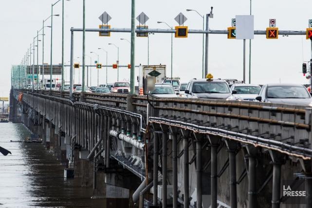 Le pont Champlain.... (Photo Edouard Plante-Fréchette, archives La Presse)