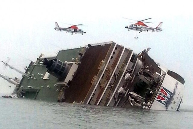 Le traversier sud-coréen Sewol transportait 476 personnes, dont... (Photo Associated Press)