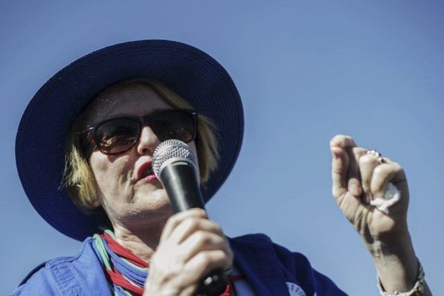 Helen Zille, la leader de l'Alliance démocratique, le... (PHOTO GIANLUIGI GUERCIA, AFP)