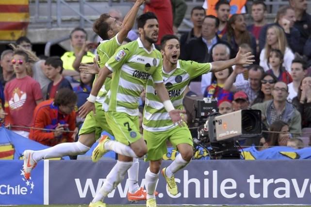 Getafe a fait match nul avec le FC... (PHOTO LLUIS GENE, AFP)
