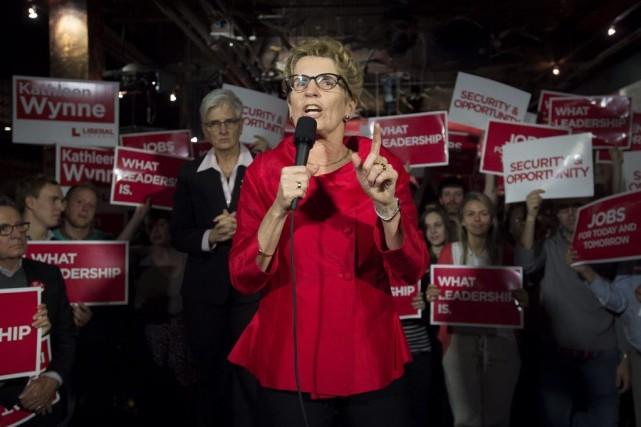 La première ministre ontarienne a participé à un... (PHOTO LA PRESSE CANADIENNE)