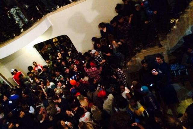 L'organisateur avait la permission de tenir une fête,... (PHOTO TIRÉE DE TWITTER)