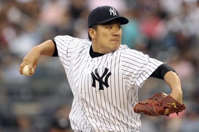 Masahiro Tanaka des Yankees.... (Photo Adam Hunger, USA TODAY Sports)