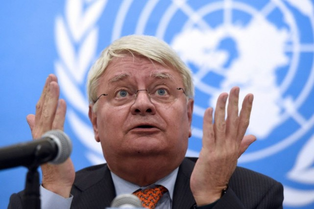 Le secrétaire général adjoint aux Opérations de maintien... (PHOTO ISSOUF SANOGO, AFP)