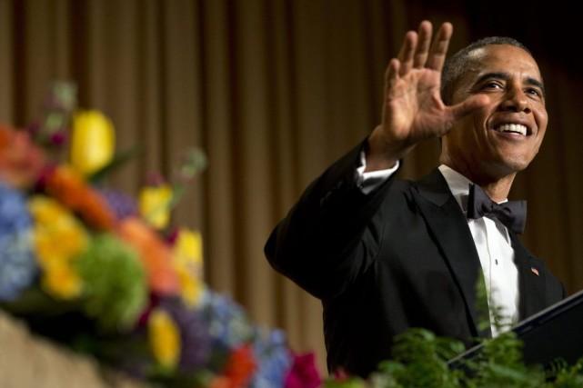 Barack Obama a utilisé l'humour pour critiquer la... (PHOTO JACQUELYN MARTIN, AP)
