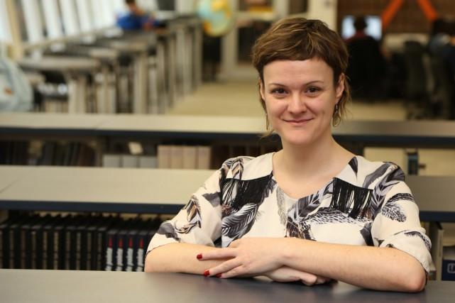 Joëlle Tremblay marie la philosophie au monde des... (PHOTO ALAIN DION, LA VOIX DE L'EST)
