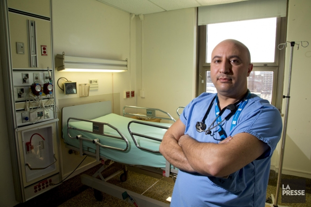 Mohammed Amine Nouara est infirmier auxiliaire à l'Hôtel-Dieu... (PHOTO ALAIN ROBERGE, LA PRESSE)