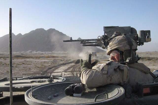 Kristian Wolowidnyk en mission en Afghanistan en 2010.... (Archives PC)