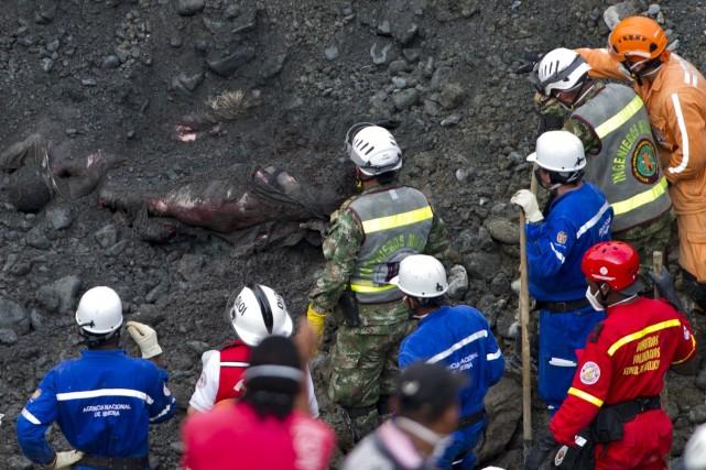 Les accidents miniers sont fréquents en Colombie.... (Photo LUIS ROBAYO, AFP)