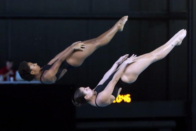 Le duo composé de Jennifer Abel et de... (Photo FRED CHARTRAND, PC)