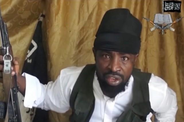 Le chef de Boko Haram, Abubakar Shekau, dans... (IMAGE ARCHIVES AFP/BOKO HARAM)