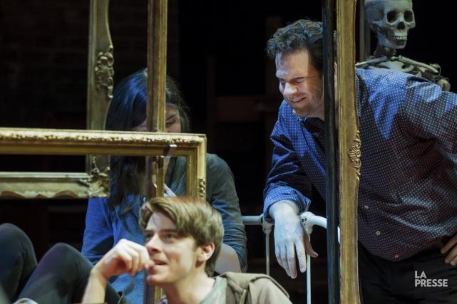 Albert Schultz à la répétition d'une pièce de... (Photo: Édouard Plante-Fréchette, La Presse)