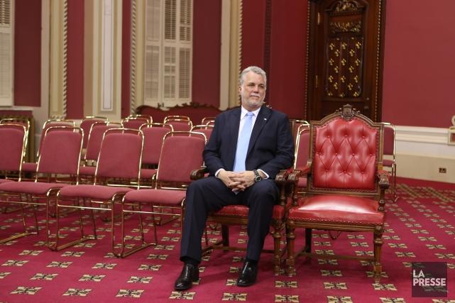 Philippe Couillard promet de former le «gouvernement le... (Photo Martin Chamberland, La Presse)
