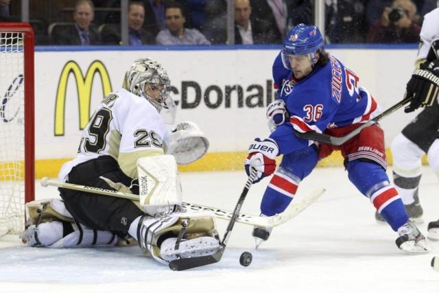 Marc-André Fleury a blanchi les Rangers de New York pour la deuxième fois en... (Photo: Reuters)