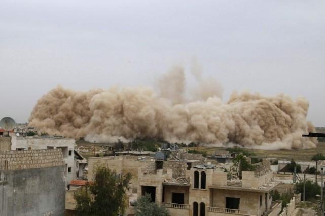 Une vidéo postée par la principale coalition rebelle,... (Photo Rasem Ghareeb, Reuters)