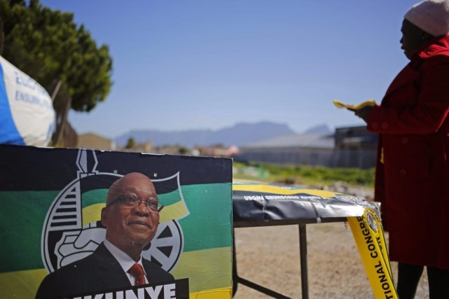 Le président sortant Jacob Zuma devrait être réélu,... (Photo Schalk van Zuydam, Associated Press)