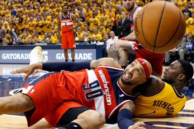 Drew Gooden (90), des Wizards de Washington, et... (Photo Brian Spurlock, USA Today)