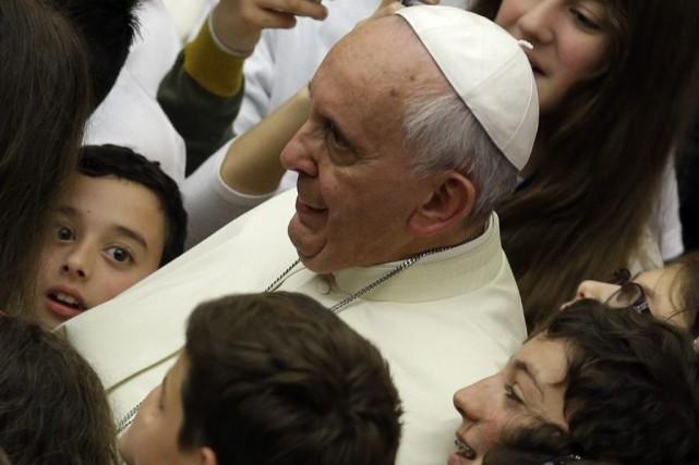 Le pape François.... (Photo Gregorio Borgia, Associated Press)