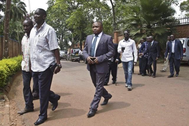 Les 1295 ex-rebelles congolais du M23, placés dans... (Photo Isaac Kasamani, Agence France-Presse)