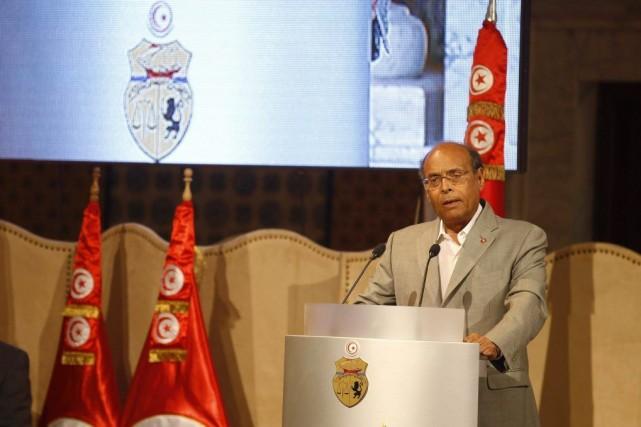 Le président de la Tunisie, Moncef Marzouki.... (Photo Zoubeir Souissi, Reuters)