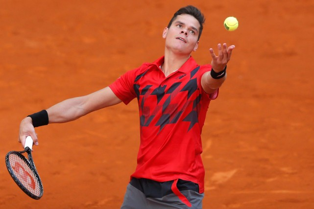 Milos Raonic a réussi 11 as et n'a... (Photo Andres Kudacki, AP)