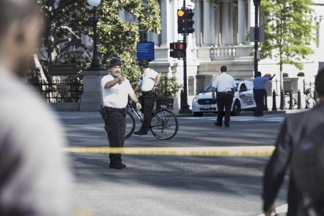 Selon le Secret Service, la police chargée de... (Photo AFP)