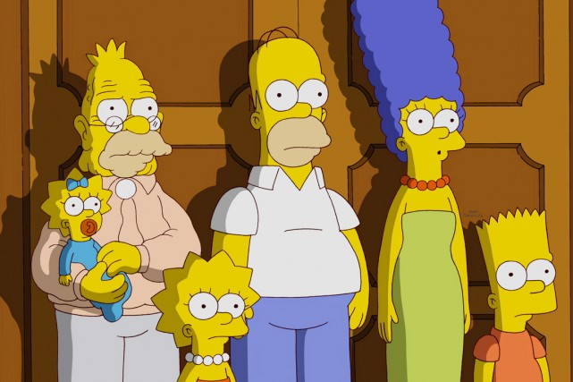 Les Simpson se retrouvent bien malgré eux au... (IMAGE ARCHIVES FOX)