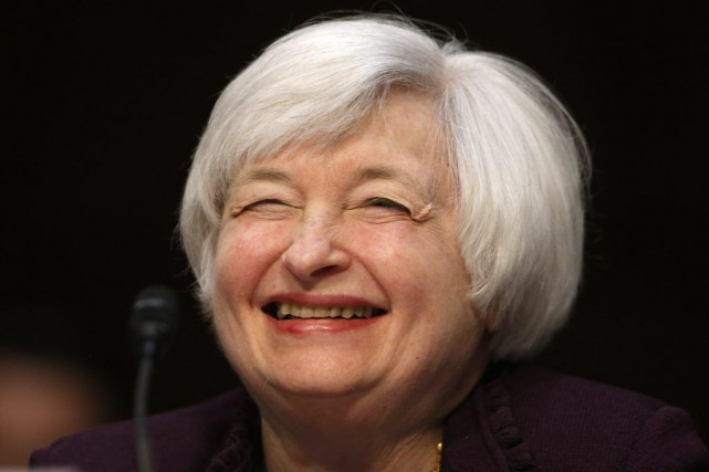 La présidente de la Banque centrale américaine Janet... (Photo Charles Dharapak, AP)