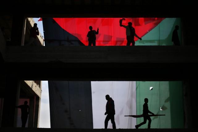 Le mouvement islamiste, au pouvoir à Gaza depuis... (Photo SUHAIB SALEM, Reuters)