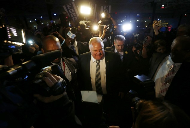 Le maire Ford a affirmé au Toronto Sun qu'il recevait... (Photo MARK BLINCH, Reuters)