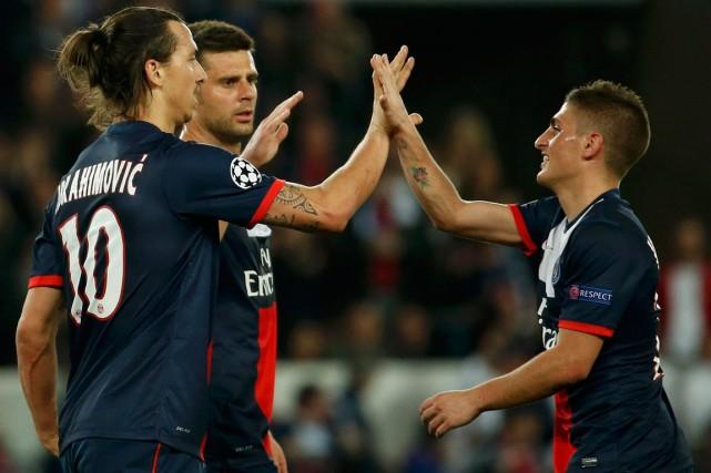 Le Paris SG a décroché mercredi son deuxième titre de champion de France... (Photo Benoit Tessier, Reuters)