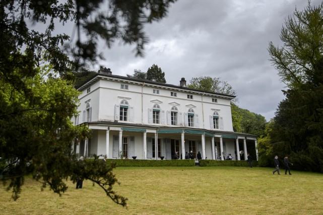 Dans l'immense propriété de 14 hectares du Manoir... (Photo: AFP)