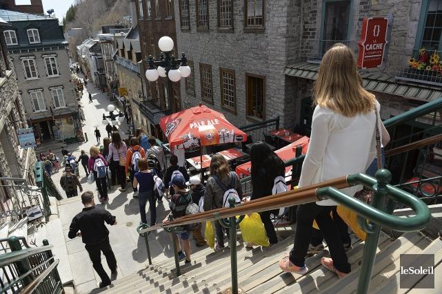 Le centre-ville et le Vieux-Québec sont les deux... (Photothèque Le Soleil, Patrice Laroche)