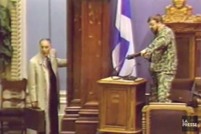 Marc Jalbert et Denis Lortie.... (Archives La Presse)