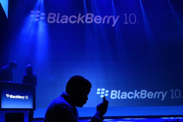 À l'ère de l'espionnage électronique,BlackBerryse sert de la... (Photo archives AFP)