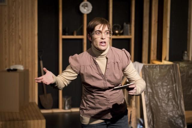 Édith Arvisais est assez bonne dans le rôle... (Photo: fournie par le Théâtre Prospero)