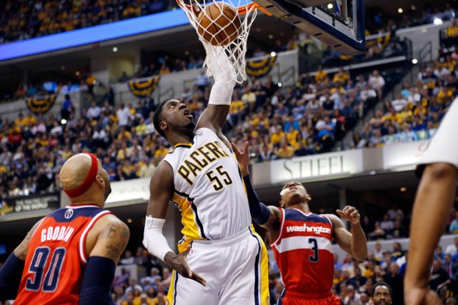 Roy Hibbert est sorti de sa torpeur et... (Photo Brian Spurlock, USA Today)