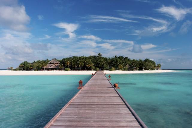 Les plus chanceux pourront s'envoler aux îles Maldives.... (Photo Bloomberg)