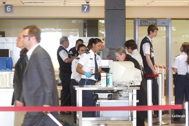 À l'aéroport d'Ottawa, l'ACTSA avait obtenu une note... (Étienne Ranger, Archives LeDroit)