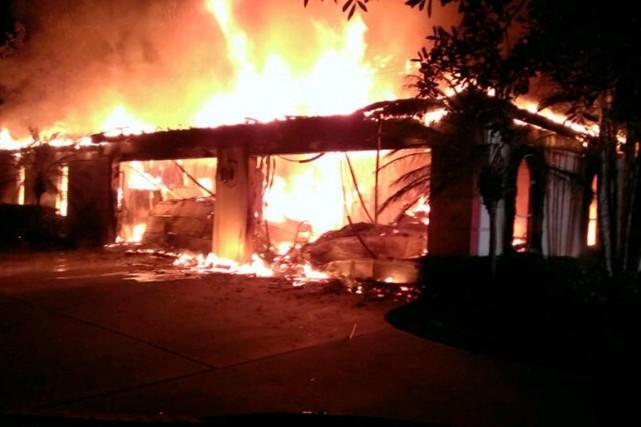 Les autorités ont déclaré mercredi que l'incendie de... (Photo Reuters)