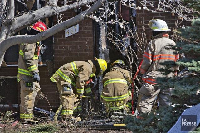 Triste ironie du sort, c'est un grand brûlé qui a péri tôt jeudi matin dans... (Photo Patrick Sanfaçon, La Presse)