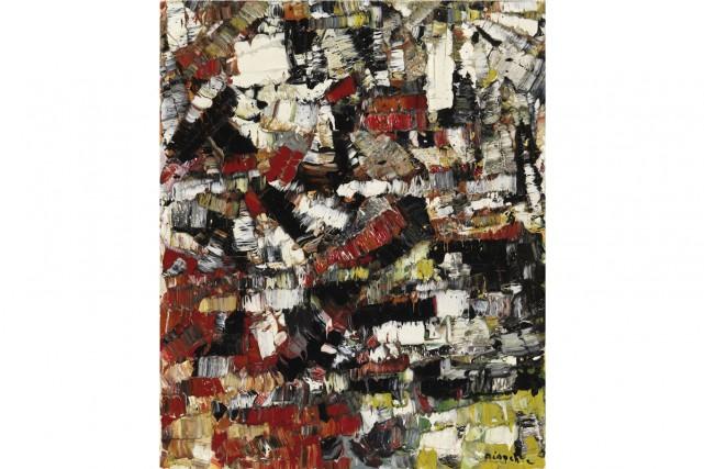 Une peinture de Riopelle de 1956, Neige d'automne,... (Photo: fournie par la Maison Heffel)