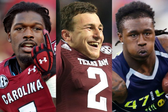 L'ailier défensif Jadeveon Clowney, le quart-arrière Johnny Manziel... (Photos USA Today)