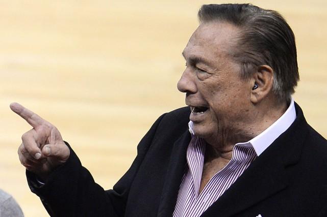 Le propriétaire des Clippers de Los Angeles, Donald... (Photo Robyn Beck, AFP)