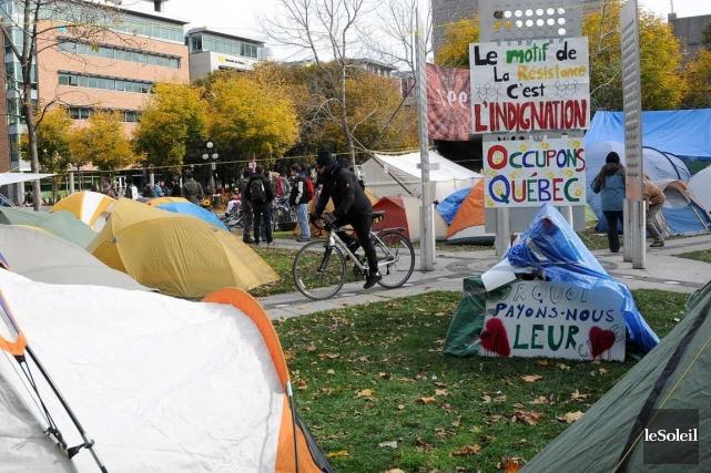 En octobre 2011, le mouvement Occupons Québec avait... (Photothèque Le Soleil)