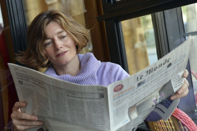 Natalie Nougayrède, la directrice du journal Le Monde.... (Photo archives AFP)