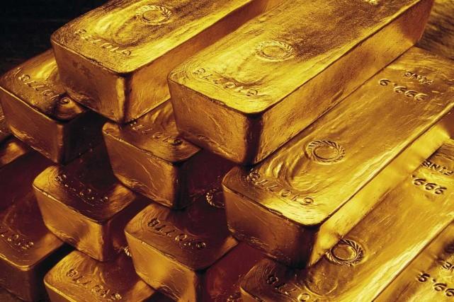 Le métal jaune a commencé la semaine en... (Photo Associated Press)